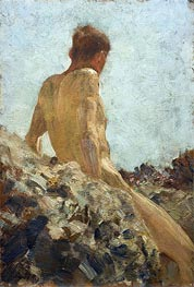 Nude Study, undated by Tuke | Painting Reproduction