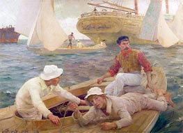 The Run Home, 1902 by Tuke | Painting Reproduction