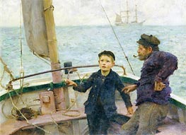 The Steering Lesson | Tuke | Painting Reproduction