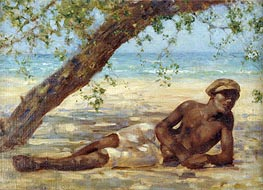 Samuel under a Tree, Jamaica, undated by Tuke | Painting Reproduction