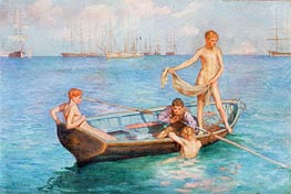 August Blue, 1896 by Tuke | Painting Reproduction