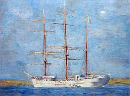 White Barque, 1896 by Tuke | Painting Reproduction