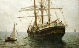 The Missionary Boat | Tuke | Painting Reproduction
