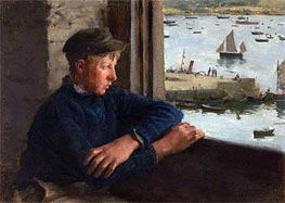 The Look Out, 1886 by Tuke | Painting Reproduction