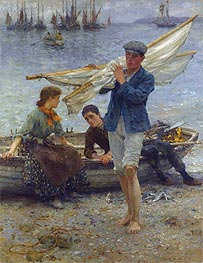 Return from Fishing, 1907 by Tuke | Painting Reproduction