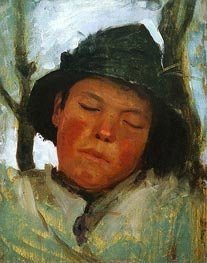 Boy in a Sou'wester | Tuke | Painting Reproduction