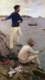 Two Falmouth Fisher Boys | Tuke | Painting Reproduction