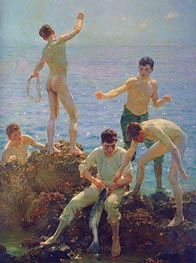 Midsummer Morning, 1907 by Tuke | Painting Reproduction