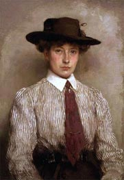 Portrait of Ida Hamilton, 1909 by Tuke | Painting Reproduction