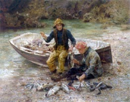The Good Catch, 1913 by Tuke | Painting Reproduction