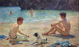 Companions, 1924 by Tuke | Painting Reproduction