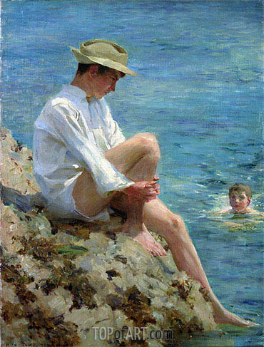 Boys Bathing, 1908 | Tuke | Painting Reproduction