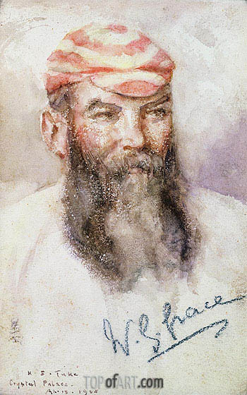 W. G. Grace, 1905 | Tuke | Painting Reproduction