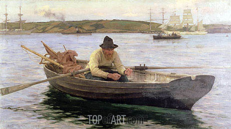 The Fisherman, 1889 | Tuke | Painting Reproduction