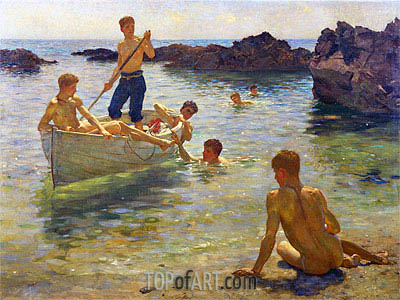 Morning Splendour, 1922 | Tuke | Painting Reproduction