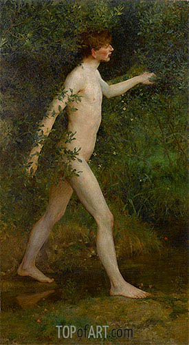 A Woodland Bather, 1893 | Tuke | Painting Reproduction