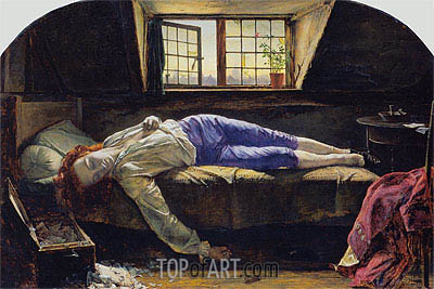 The Death of Chatterton, 1856 | Henry Wallis | Gemälde Reproduktion