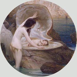 A Water Baby, c.1900 by Herbert James Draper | Painting Reproduction