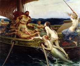 Ulysses and the Sirens | Herbert James Draper | Painting Reproduction