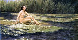 The Water Nixie, 1908 by Herbert James Draper | Painting Reproduction