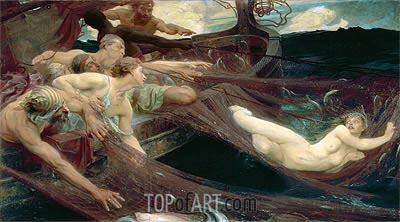 The Sea Maiden, 1894 | Herbert James Draper | Painting Reproduction