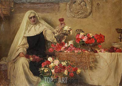 For Saint Dorothea's Day, 1899 | Herbert James Draper | Painting Reproduction