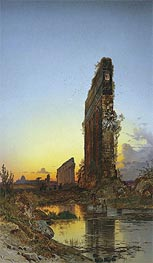 Ruins at Sunset | Hermann David Salomon Corrodi | Painting Reproduction