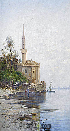 On the Banks of the River Nile, undated | Hermann David Salomon Corrodi | Gemälde Reproduktion