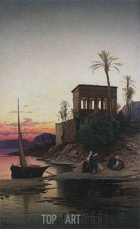 The Kiosk of Trajan, Philae on the Nile, undated | Hermann David Salomon Corrodi | Painting Reproduction