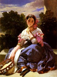 Young Girl From Ariccia, 1838 by Winterhalter | Painting Reproduction