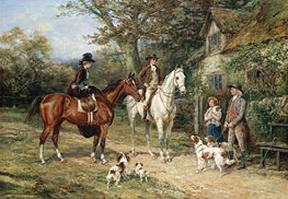 A Convivial Greeting | Heywood Hardy | Painting Reproduction
