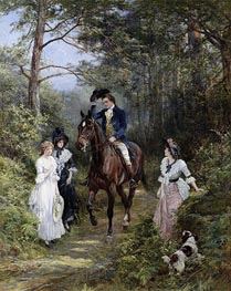 The Meeting in the Forest | Heywood Hardy | Painting Reproduction