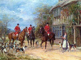 A Halt at the Inn | Heywood Hardy | Painting Reproduction