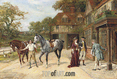 After the Morning Gallop, 1907 | Heywood Hardy | Painting Reproduction
