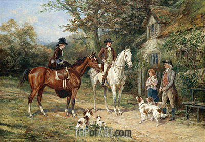 A Convivial Greeting, 1906 | Heywood Hardy | Painting Reproduction
