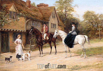 The Gamekeeper's Daughter, undated | Heywood Hardy | Gemälde Reproduktion