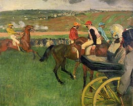 Amateur Jockeys on the Course, c.1876/87 by Degas | Painting Reproduction