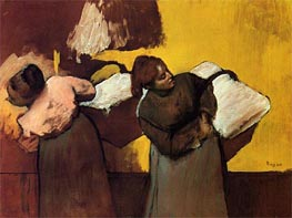 Laundresses Carrying Linen in Town | Degas | Painting Reproduction