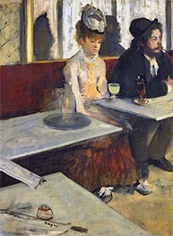 The Absinthe Drinker (In a Cafe), c.1875/76 by Degas | Painting Reproduction