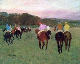 Racehorses at Longchamp, c.1871/74 by Degas | Painting Reproduction