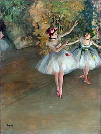 Two Dancers on a Stage, c.1874 by Degas | Painting Reproduction