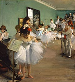 The Dance Class, 1874 by Degas | Painting Reproduction
