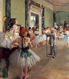 The Dance Class, c.1873/76 by Degas | Painting Reproduction