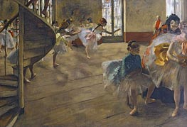 The Rehearsal, c.1877 by Degas | Painting Reproduction