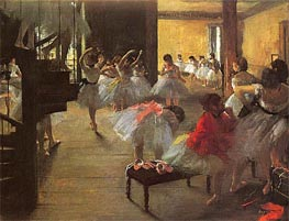 School of Ballet (Ecole de Danse), c.1873 by Degas | Painting Reproduction