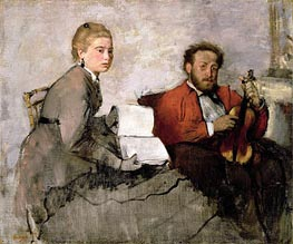 Violinist and Young Woman, c.1871 by Degas | Painting Reproduction