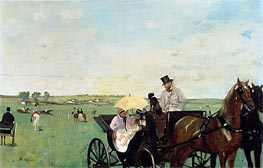 A Carriage at the Races in the Countryside, 1869 by Degas | Painting Reproduction