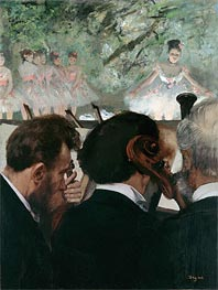 Musicians in the Orchestra, 1872 by Degas | Painting Reproduction