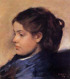 Portrait of Emma Dobigny, 1869 by Degas | Painting Reproduction