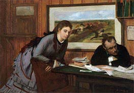 Sulking, c.1870 by Degas | Painting Reproduction